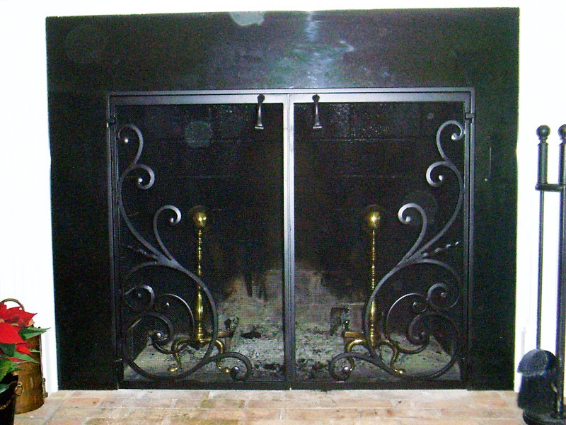 Fireplace Design glass fireplace screen : Fireplace screen on Custom-Fireplace. Quality electric, gas and ...